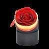 Petite boîte ruban avec rose éternelle rouge - Autour d'Elle