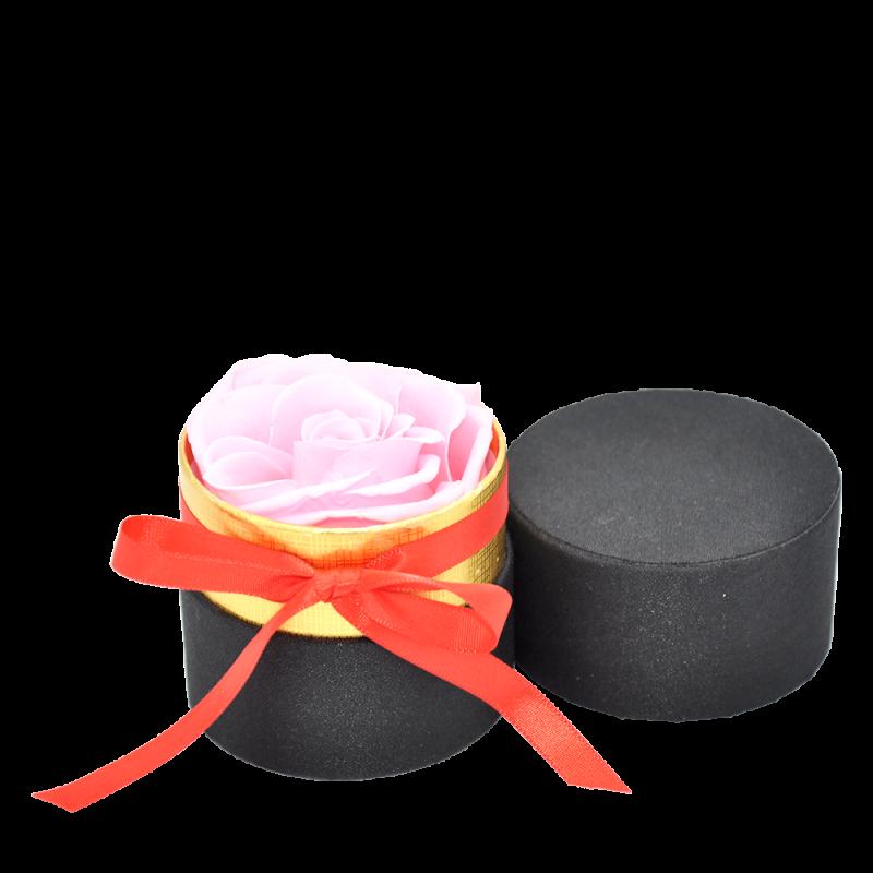 Petite boîte ruban avec rose éternelle rose - Autour d'Elle