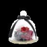 Petite cloche rose éternelle rouge avec plumes - Autour d'Elle