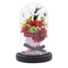 Rose éternelle sous cloche rouge avec bouquet - Autour d'Elle