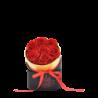 Boîte ronde avec 7 roses éternelles rouge - Autour d'Elle