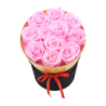 Boîte ronde avec 11 roses éternelles rose - Autour d'Elle