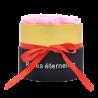Boîte ronde avec 7 roses éternelles rose - Autour d'Elle